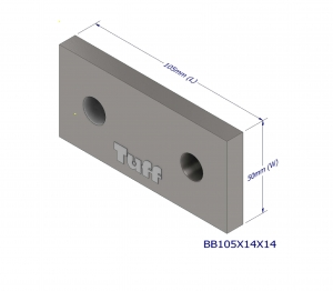 BOND BEAM BRACKET 105X50X8MM (2X14MM HOLE)