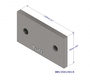 BOND BEAM BRACKET 135X75X10MM (2X14MM HLE)