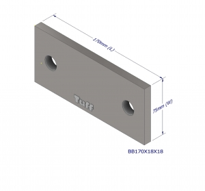 BOND BEAM BRACKET 170X75X12MM (2X18MM HLE)