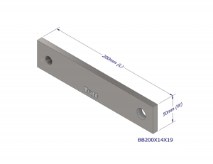 BOND BEAM TRUSS BRACKET 200X14X19MM