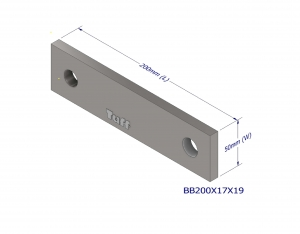 BOND BEAM TRUSS BRACKET 200X17X19MM