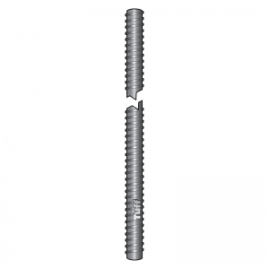 M12 X 160MM ZINC COATED THREADED ROD