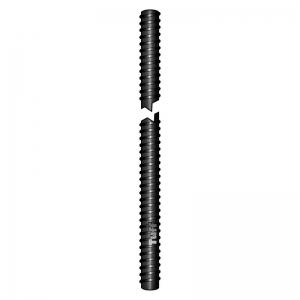 M12 X 2570MM BLACK FINISH THREADED ROD