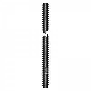 M12 X 2700MM BLACK FINISH THREADED ROD