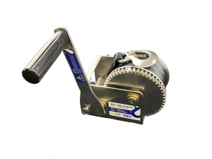 BOAT TRAILER WINCH STAINLESS STEEL 316 - 5:1 RATIO SINGLE SPEED CAPACITY 300KG W