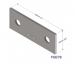 FENCE PLATE 2 HOLE BRACK ET 85X32X3MM