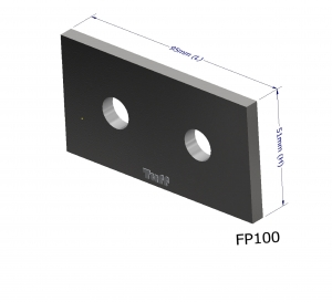 PURLIN P100 ANGLE BRACKET PLATE 95X51X3MM