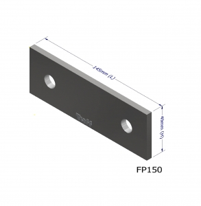 PURLIN P150 ANGLE BRACKET PLATE 145X49X3MM