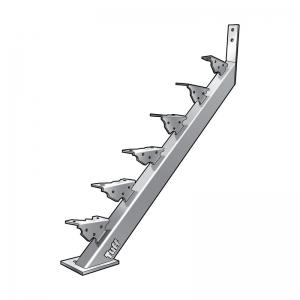 STAIR STRINGER BOLT-ON-CONCRETE - 17 STEP