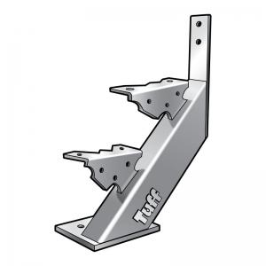 STAIR STRINGER BOLT-ON-CONCRETE - 2 STEP
