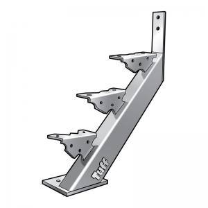 STAIR STRINGER BOLT-ON-CONCRETE - 3 STEP