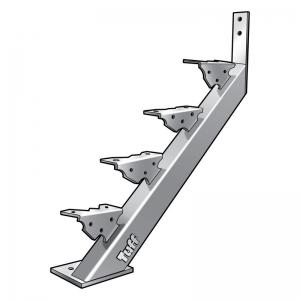 STAIR STRINGER BOLT-ON-CONCRETE - 4 STEP