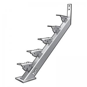 STAIR STRINGER BOLT-ON-CONCRETE - 5 STEP