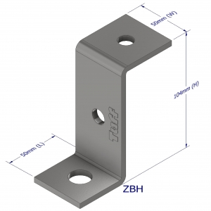 Z-BRACKET 104X50X5MM